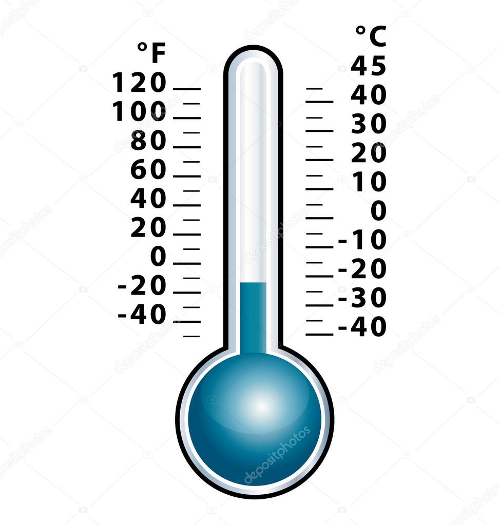 Front view cold thermometer vector  Stock Vector #12047294