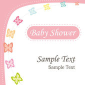 Baby shower invitation. Girl version. Vector greeting card. — Stock Photo