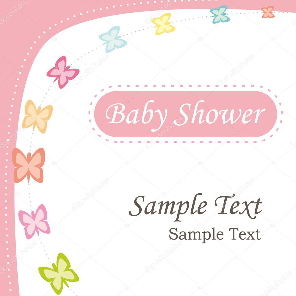 Baby Shower Stock Images ~ Baby shower invitation girl version greeting card