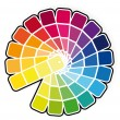Color guide vector illustration -  