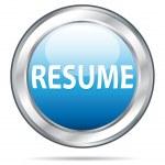 Resume website button. Vector illustration. — Stock Vector
