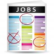Stockvektor : Jobs offers newspaper vector illustration