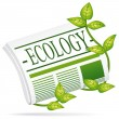 Ecology newspaper. Vector icon. — Stok Vektör