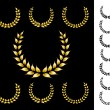 Royalty-Free Stock Imagem Vetorial: Golden crowns vector collection