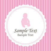 Birth announcements. Girl version vector card. — Stock Vector