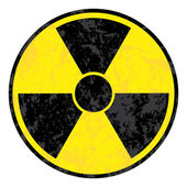 Radioactive symbol. Vector grunge icon. — Stock Vector