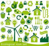 生态图标集。用于环境保护的 42 绿色矢量符号。. — 图库矢量图片