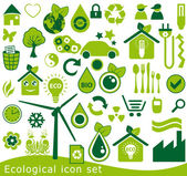 Ecological icon set. 42 green vector symbols for the environmental protection. — 图库矢量图片