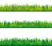 Seamless grass vector patterns — Stock Vector