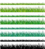 Vektorové trávy třásně. snadné úpravy. — Stock vektor