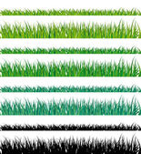 Vector grass fringes. Easy to edit. — Stock Vector
