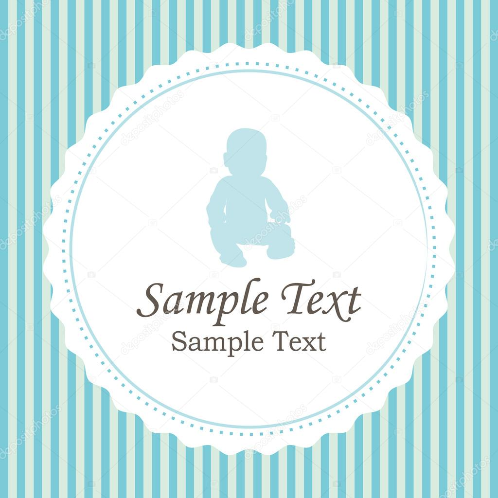 Birth Announcements Boy Version Vector Card Stock