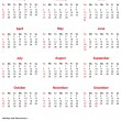 Simple vector 2013 Office Calendar. - Imagen vectorial
