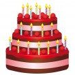 Royalty-Free Stock Векторное изображение: Birthday cake