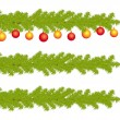 HIghly detailed fir branches of decorated christmas tree. — Stockvector #13685361