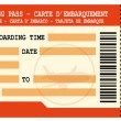 Stock Vector: Boarding pass. Red flight coupon.