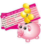Travel budget icon. — Stock Vector