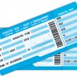 Two boarding passes. Blue flight coupons. - Stockvektor