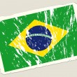 Grunge flag of Brazil. - Stock Vector