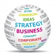 Business strategy concept. World icon. - Imagen vectorial
