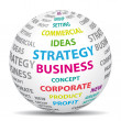 Business strategy concept. World icon. - Vettoriali Stock