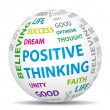 Vector de stock : Positive thinking world. Vector icon.