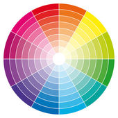 Renk tekerleğinde renk tonu ile. vektör çizim. — Stok Vektör