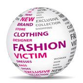 Moda kurbanı dünya. alışveriş kavramı. — Stok Vektör