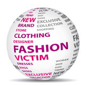 Fashion victim world. Shopping concept. — Stock Vector