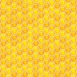 Honeycombs pattern background. — Stock vektor