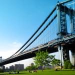 Manhattan Köprüsü. Brooklyn'li görüntüleyin. New york şehri. Amerika Birleşik Devletleri — Stok fotoğraf