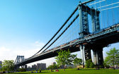 Manhattan bridge. View from Brooklyn. New York City. United states of America. — Stock Photo