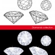 Diamonds vector collection. Gems and geometry.  — Imagen vectorial