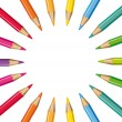 Wheel of colored pencils. Vector background. — Stock Vector #32762805