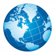 World globe icon. American view.  — 图库矢量图片