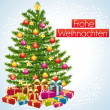 Frohe Weihnachten. Greeting card. — Stock Vector