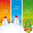 Stock Vector: Merry christmas. Greeting vertical banners. Vector set.
