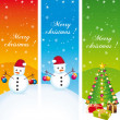 Merry christmas. Greeting vertical banners. Vector set. — Stockvektor