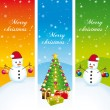 Merry christmas. Greeting vertical banners. Vector set II. — Stock Vector