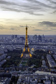 Eiffel tower and Champ de Mars, Paris, France. — Stock Photo