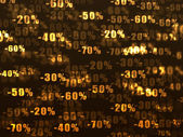 Gold sales discounts wallpaper. — Stock Photo