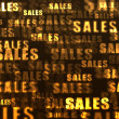 Gold sales tags background. — Stock Photo