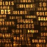 Soldes. Fond doré et noir. — Stock Photo #38340167