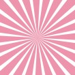 Stock Vector: Sweet pink sunburst background.