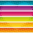 Colorful halftone commercial banners. Vector illustration. — Stock Vector