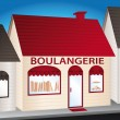 Stock Vector: Boulangerie. French convenience shop.