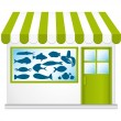 Fresh fish. Vector fishmonger. — Stock Vector