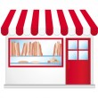 Stock Vector: Little boulangerie. Cute convenience store.