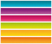 Colorful grid banners. Vector set. — Stock Vector