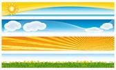Banners coloridos de sazonais. coleção de vetores. — Vetor de Stock